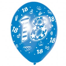 Happy 18th Birthday Male Latex Balloons