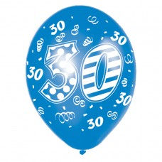 Happy 30th Birthday Male Latex Balloons
