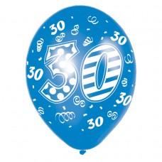 Happy 30th Birthday Male Latex Balloons