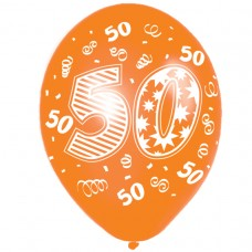 Happy 50th Birthday Latex Balloons