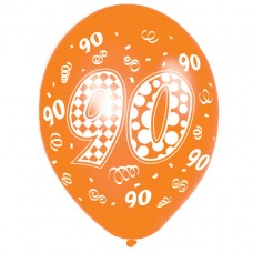 Happy 90th Birthday Latex Balloons