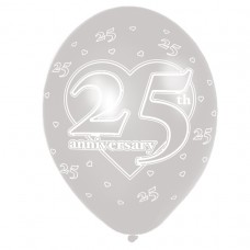 25th Anniversary Latex Balloons