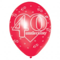 40th Anniversary Latex Balloons Disc