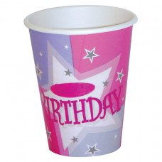 Pink Shimmer Paper Cups 266ml