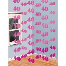 DEC string:PINK SHIMMR 40 PINK