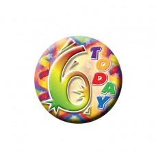 Small Badge 6th Birthday