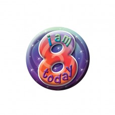 Small Badge 8th Birthday