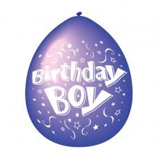 Birthday Boy Latex Balloons