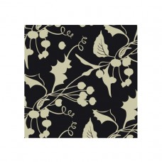 Gold Holly Luncheon Napkins 3ply 33cm