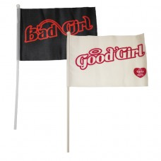 Good Girl, Bad Girl Fabric Flags