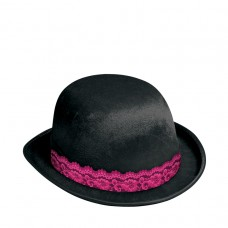 GNO BOWLER HAT BLACK WITH LACE