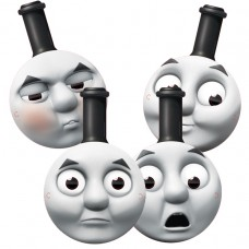 THOMAS TANK 4 Card Masks