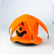 Adult Pumpkin Jester Hat