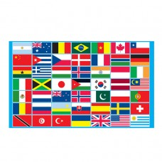 PPP Multi country Flag 5x3ft