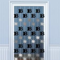 DOOR DANGLERS:BLK/SILVER 18