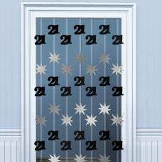 DOOR DANGLERS:BLK/SILVER 21
