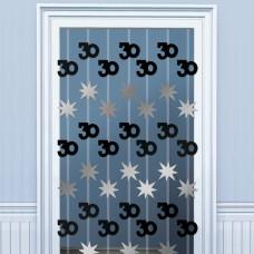 DOOR DANGLERS:BLK/SILVER 30