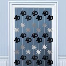 DOOR DANGLERS:BLK/SILVER 40