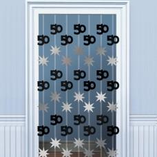 DOOR DANGLERS:BLK/SILVER 50