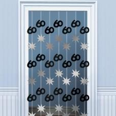 DOOR DANGLERS:BLK/SILVER 60