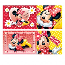 Minnie Mouse 4 Jigsaws (Red)