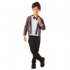 Dr Who costume + Wig L 9-10yrs