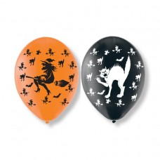 BALLOON pk6 27.5cm Halloween