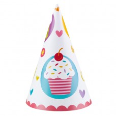 Cupcake 6 party hats