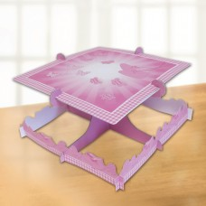 Pink Booties Square Cake Stand