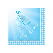 Blue Booties 16 Lunch napkins