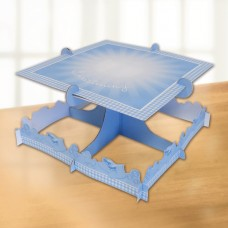 Blue Booties Square Cake Stand
