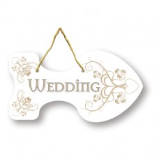 Rustic Wed 6 Directional Sign