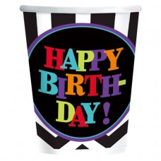 Chevron H Birthday 266ml Cup