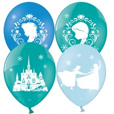 Frozen 4 Sided 1c printed latex balloon