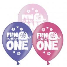 ONE WILD GIRL AOP Latex Balloons
