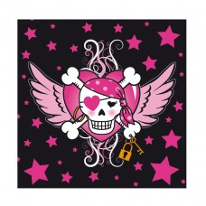 Pirate Girl Luncheon Napkins