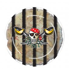 Red Pirate Paper Plates 23cm
