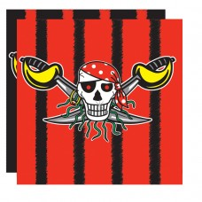 Red Pirate Luncheon Napkins
