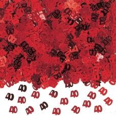 Confetti num 40 red 14g met