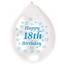 Balloon pk10 22cm 18th Bday Bl