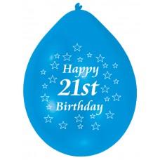 Balloon pk10 22cm  21st Bday B