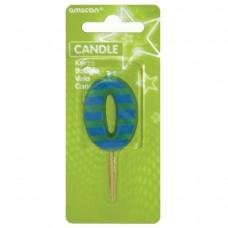 Candle num. 0 Dots + Stripes