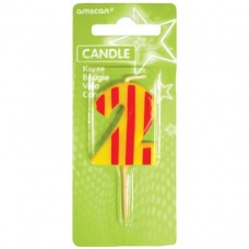 Candle num. 2 Dots + Stripes