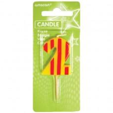 Candle num. 2 Dots + Stripes