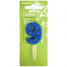 Candle num. 9 Dots + Stripes