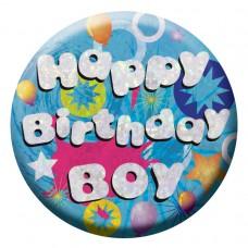 Badge Sml HoloG Happy BD Boy