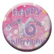 Badge Sml HoloG Hapy 16th BD