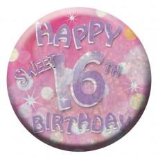 Badge Sml HoloG Hapy 16th BD