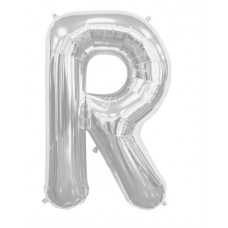 Letter R - Silver 16 INCH