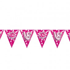BUNTING 18TH PINK